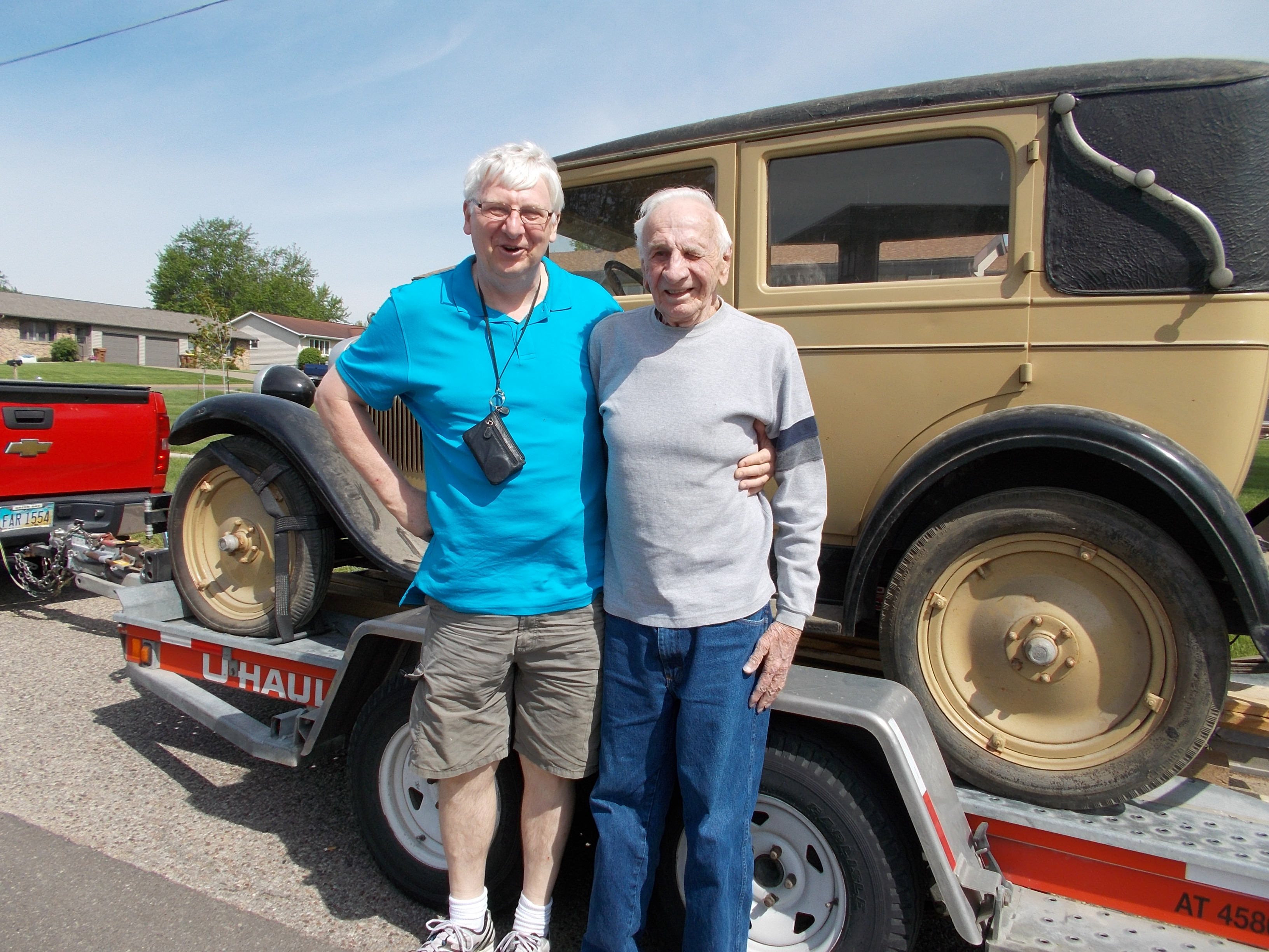 Roger and Bruce with the 1928 Chevy